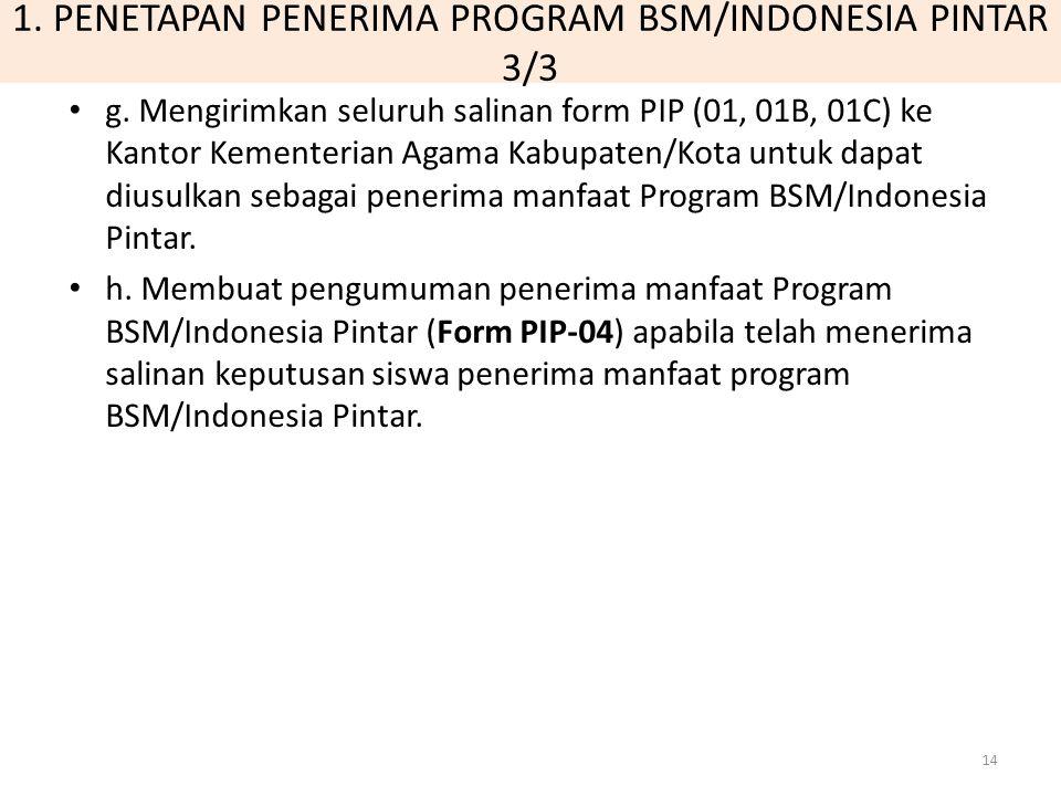 1. PENETAPAN PENERIMA PROGRAM BSM/INDONESIA PINTAR 3/3