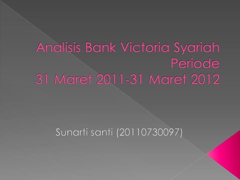 Analisis Bank Victoria Syariah Periode 31 Maret 2011-31 Maret 2012