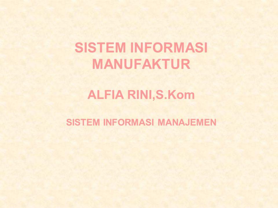 SISTEM INFORMASI MANUFAKTUR ALFIA RINI,S