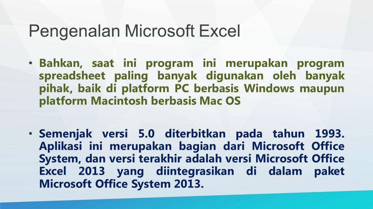 Pengenalan Microsoft Excel