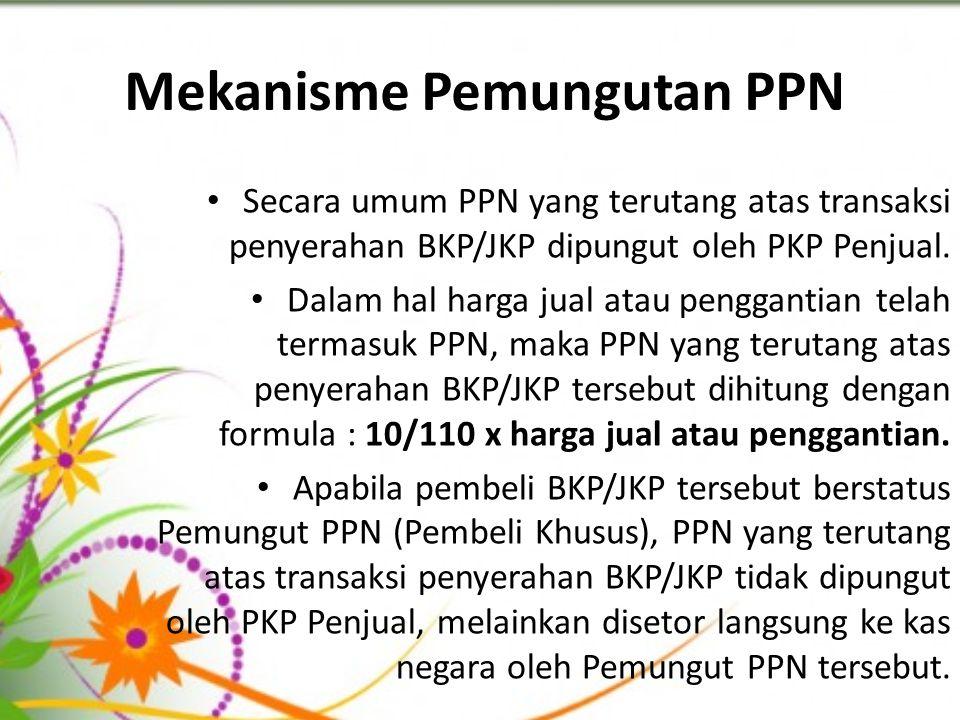 Mekanisme Pemungutan PPN