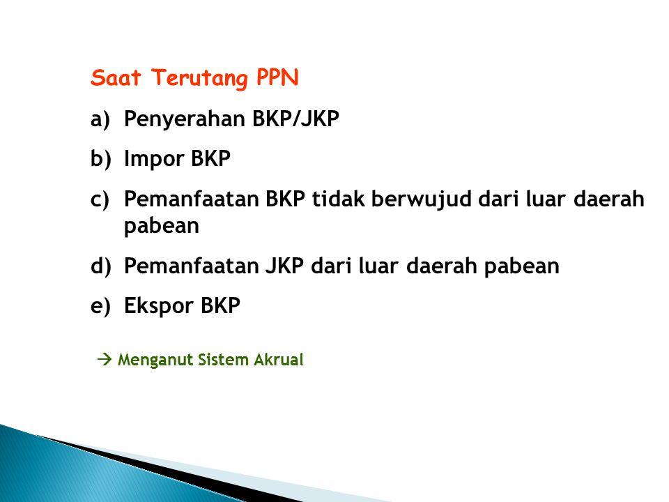Pemanfaatan BKP tidak berwujud dari luar daerah pabean