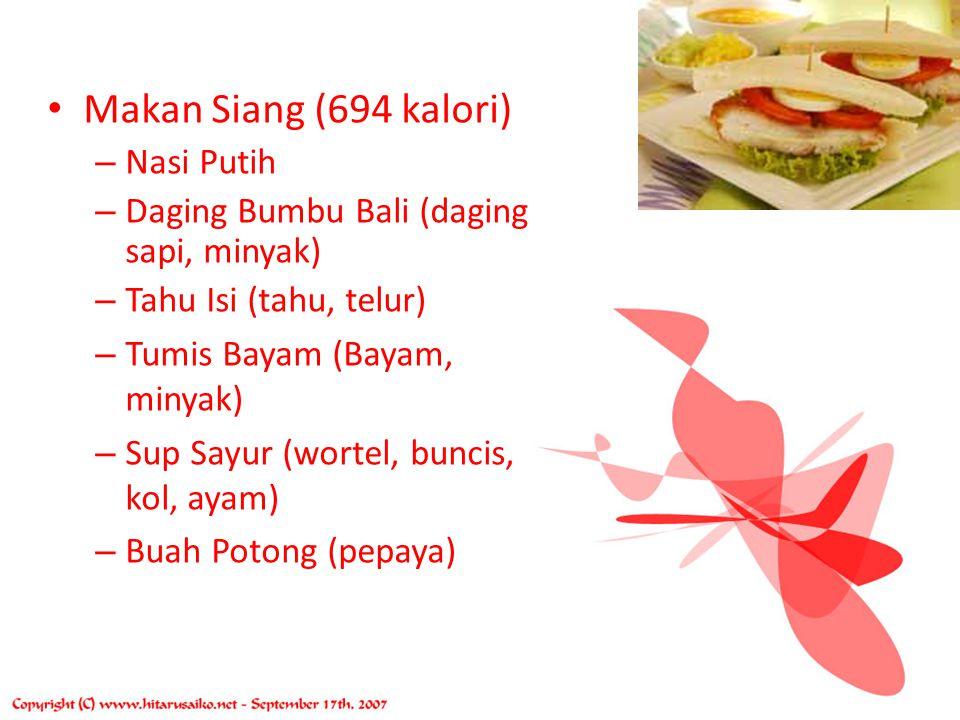 Makan Siang (694 kalori) Nasi Putih