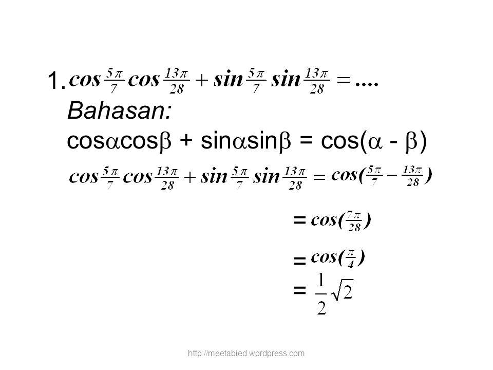 coscos + sinsin = cos( - )