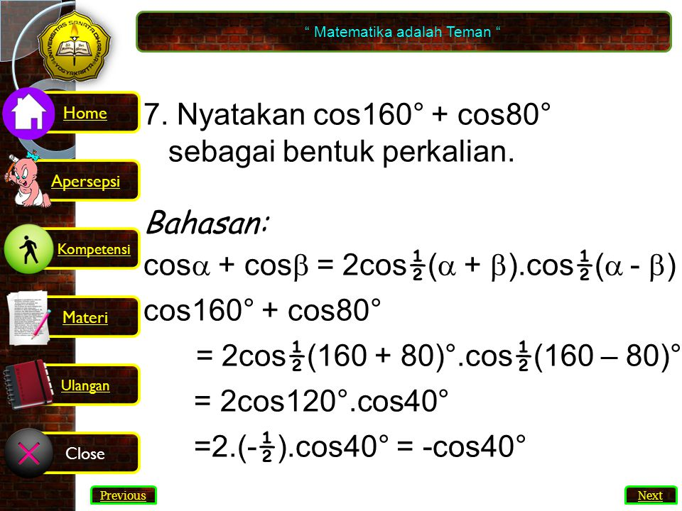 Matematika adalah Teman