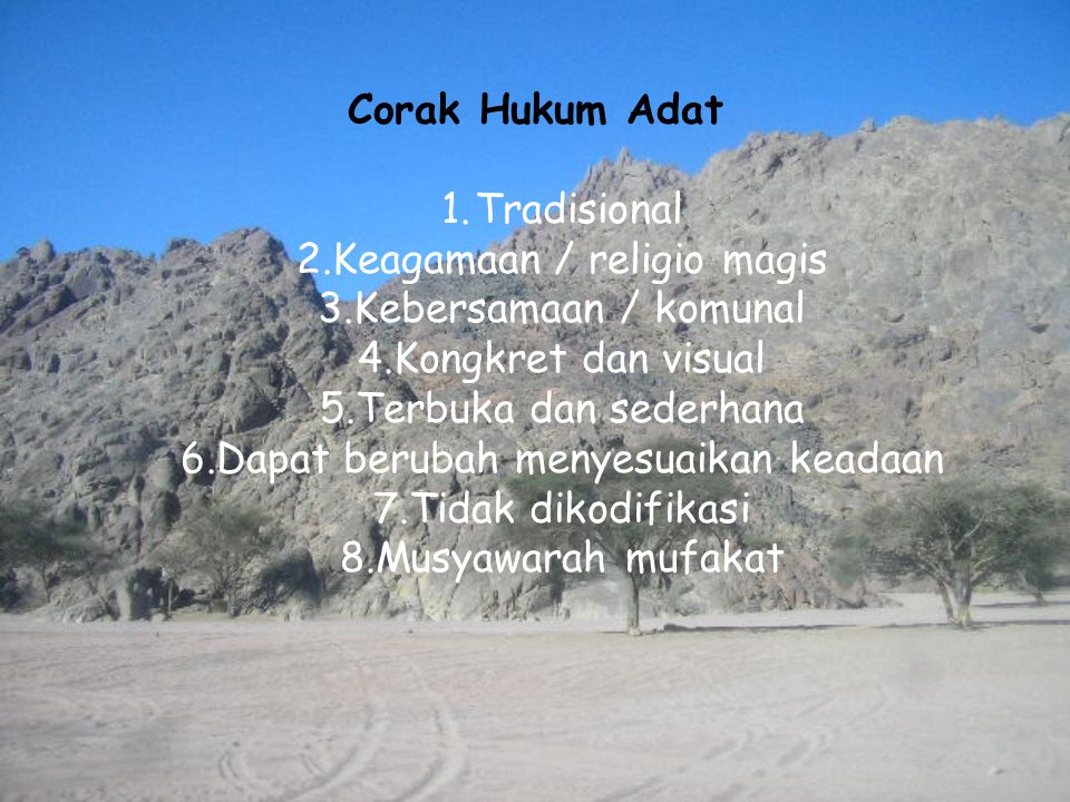 Keagamaan / religio magis Kebersamaan / komunal Kongkret dan visual
