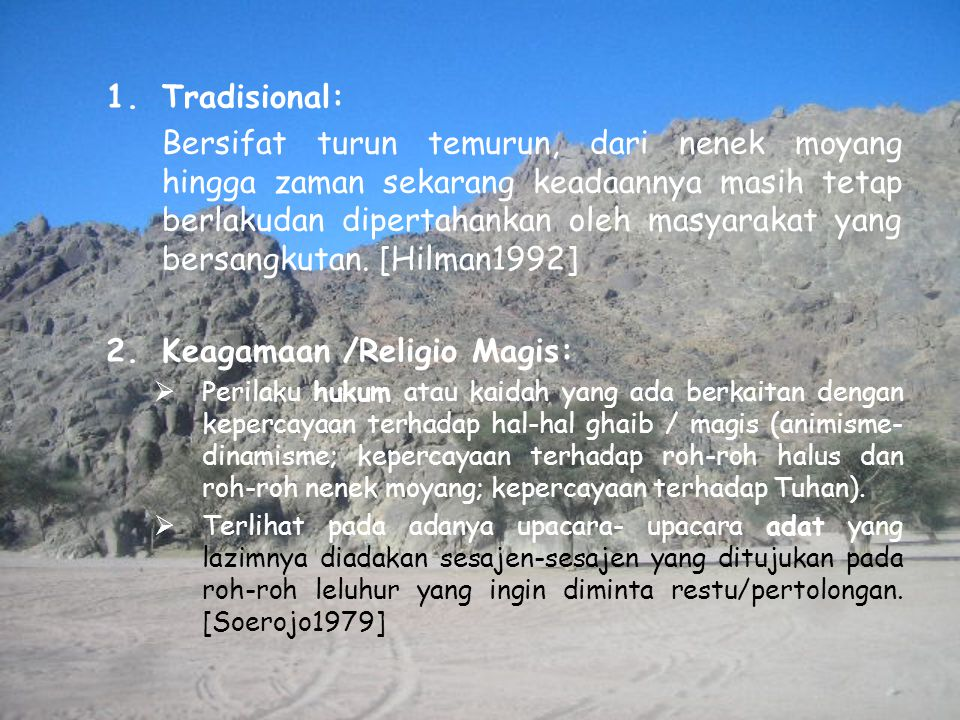 Keagamaan /Religio Magis: