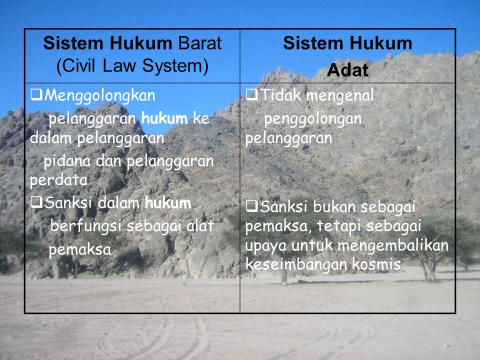 Sistem Hukum Barat (Civil Law System)