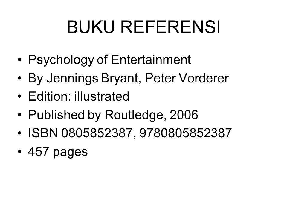 BUKU REFERENSI Psychology of Entertainment