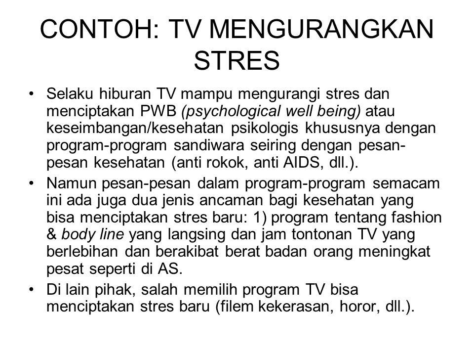 CONTOH: TV MENGURANGKAN STRES