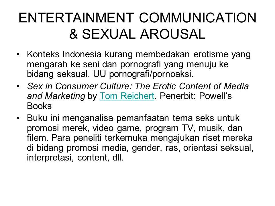 ENTERTAINMENT COMMUNICATION & SEXUAL AROUSAL