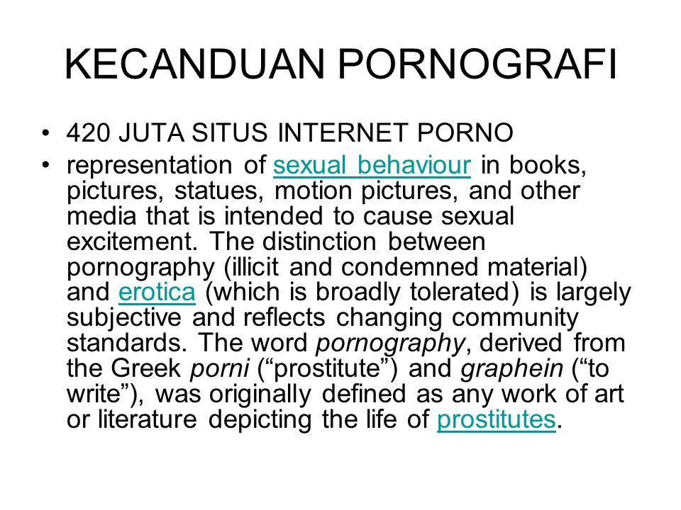 KECANDUAN PORNOGRAFI 420 JUTA SITUS INTERNET PORNO
