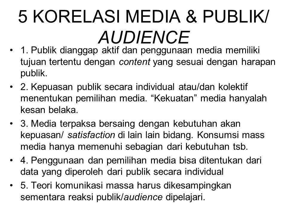 5 KORELASI MEDIA & PUBLIK/ AUDIENCE