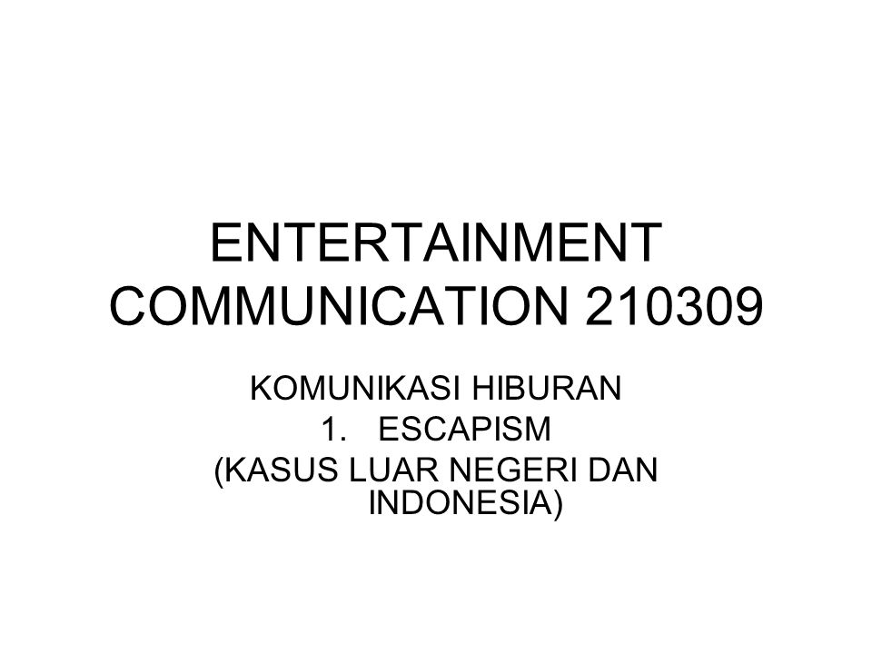 ENTERTAINMENT COMMUNICATION 210309