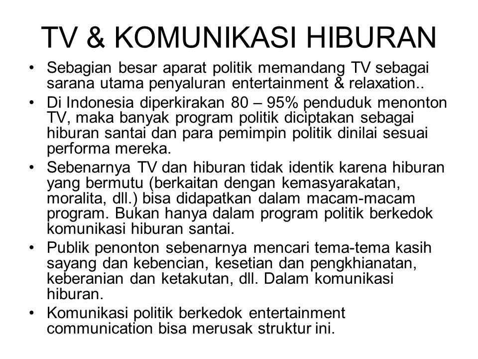TV & KOMUNIKASI HIBURAN