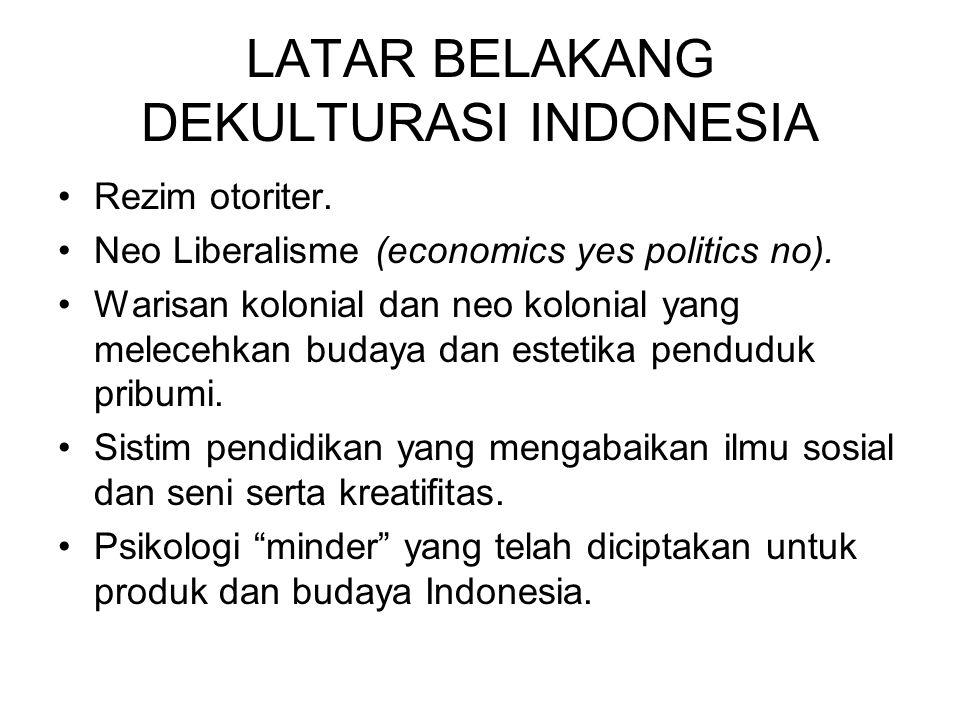 LATAR BELAKANG DEKULTURASI INDONESIA