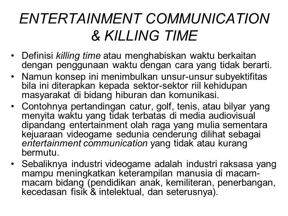ENTERTAINMENT COMMUNICATION & KILLING TIME