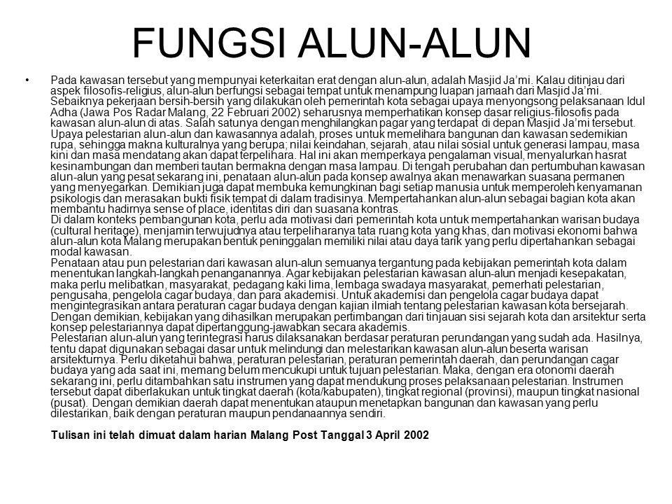 FUNGSI ALUN-ALUN