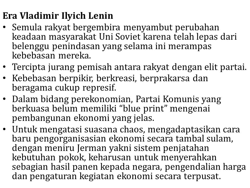 Era Vladimir Ilyich Lenin