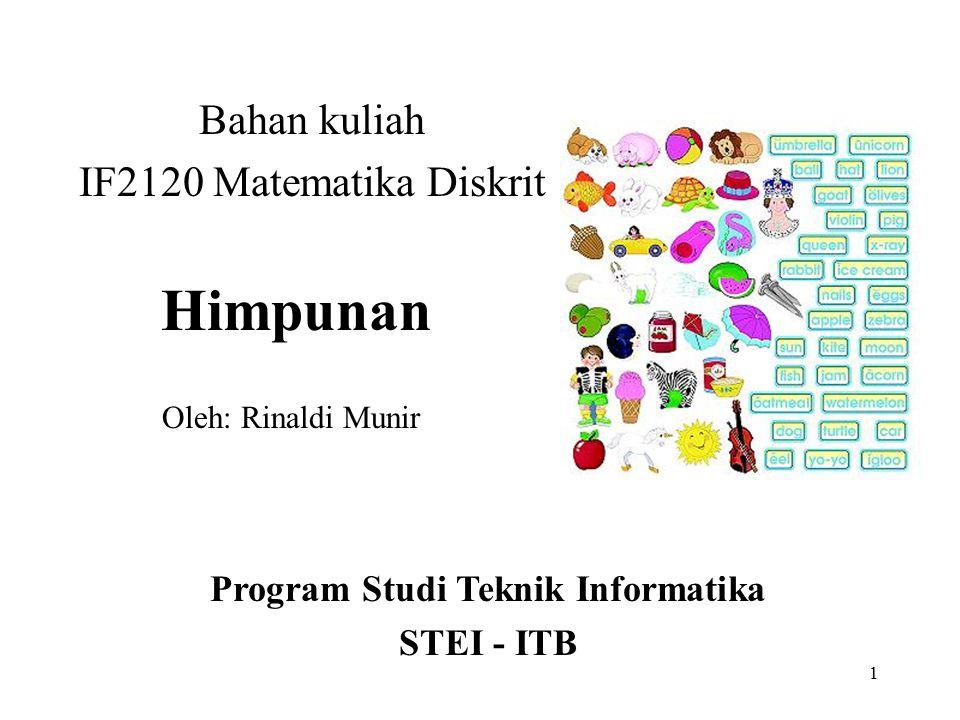 Bahan kuliah IF2120 Matematika Diskrit