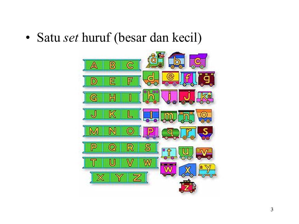 Satu set huruf (besar dan kecil)