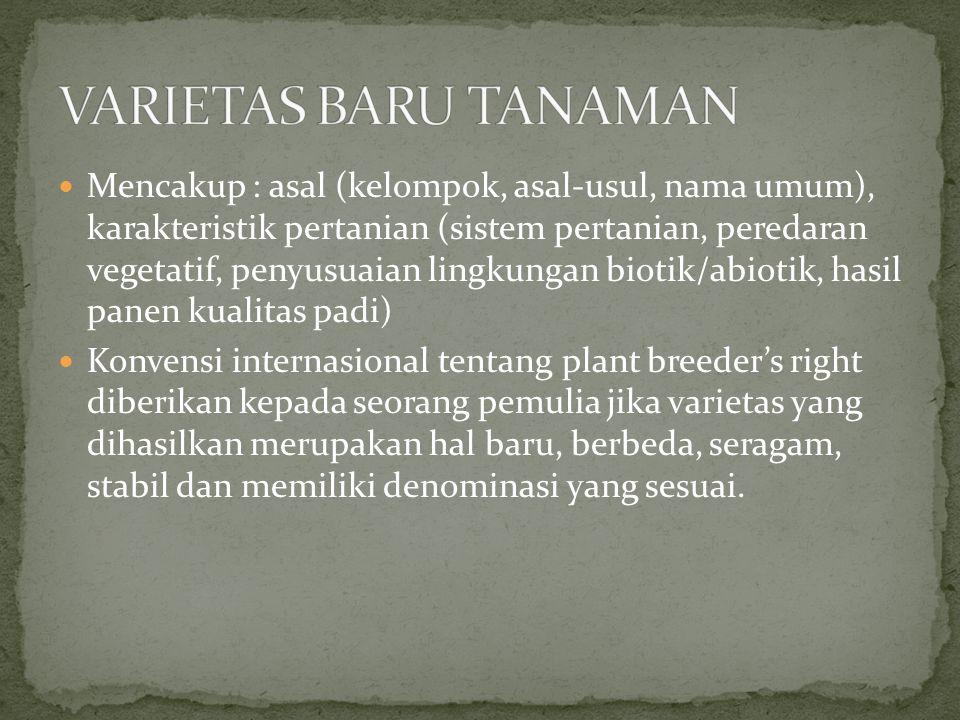 VARIETAS BARU TANAMAN