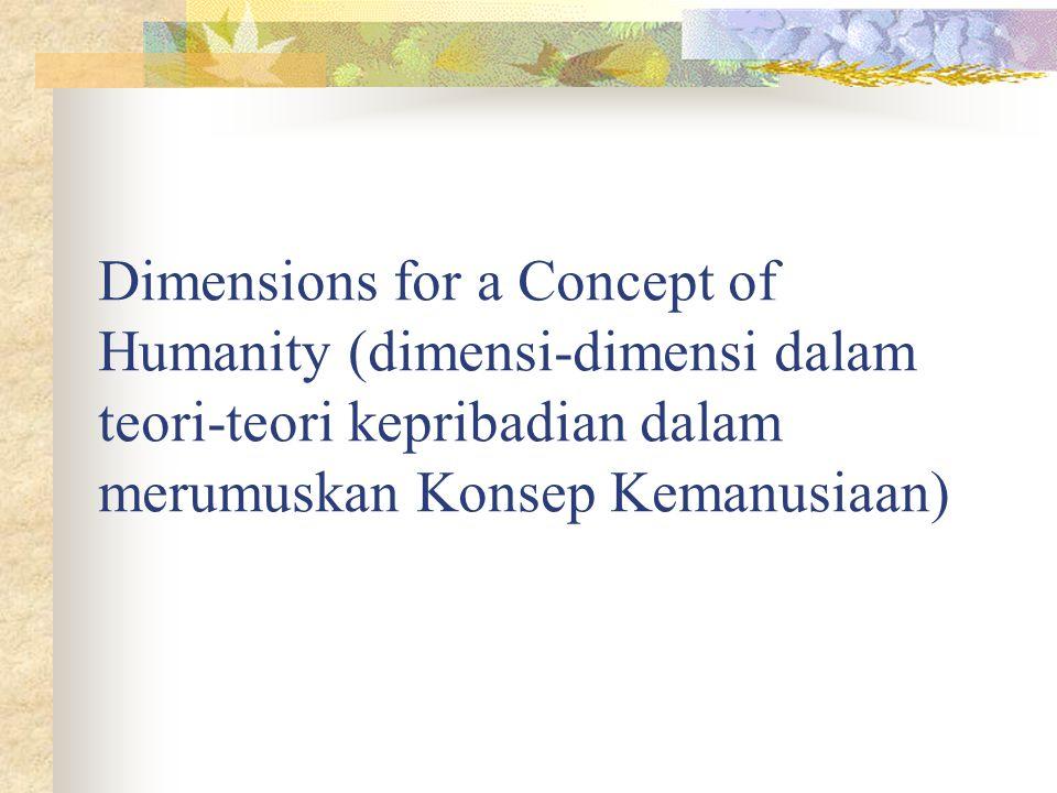 Dimensions for a Concept of Humanity (dimensi-dimensi dalam teori-teori kepribadian dalam merumuskan Konsep Kemanusiaan)