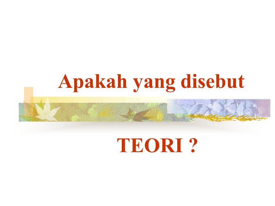 Apakah yang disebut TEORI