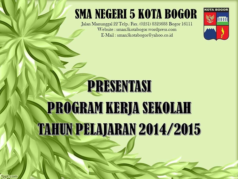 PRESENTASI PROGRAM KERJA SEKOLAH TAHUN PELAJARAN 2014/2015