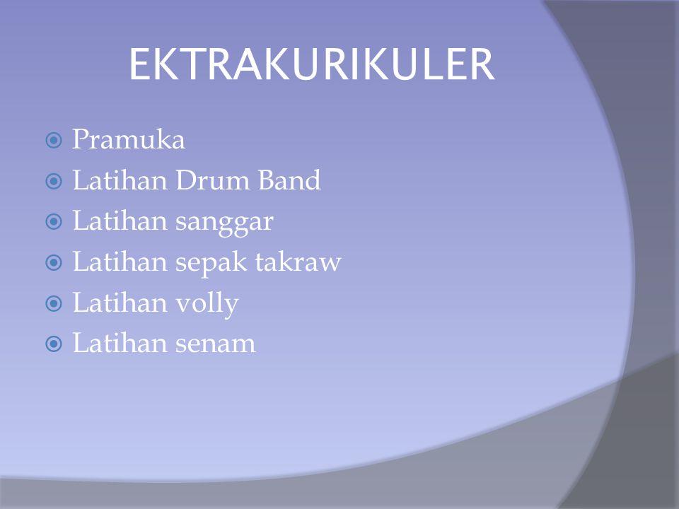 EKTRAKURIKULER Pramuka Latihan Drum Band Latihan sanggar