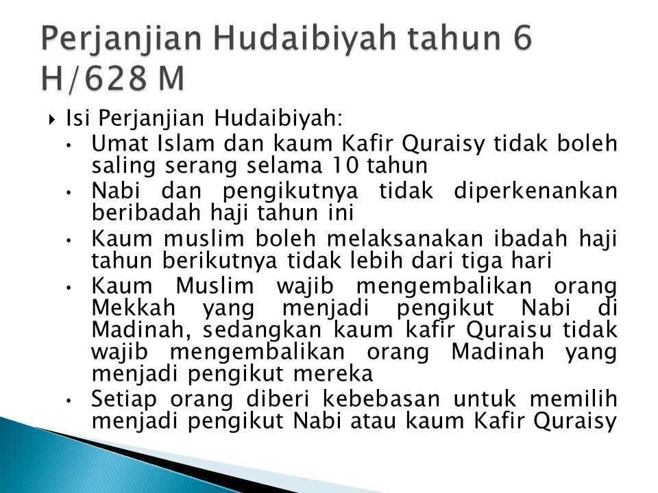 Perjanjian Hudaibiyah tahun 6 H/628 M