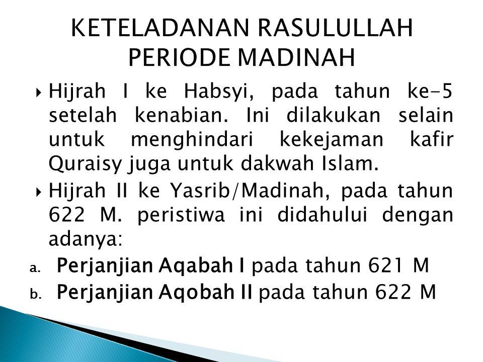 KETELADANAN RASULULLAH PERIODE MADINAH