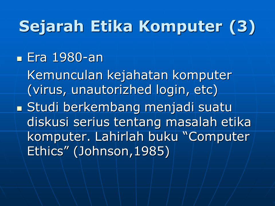 Sejarah Etika Komputer (3)