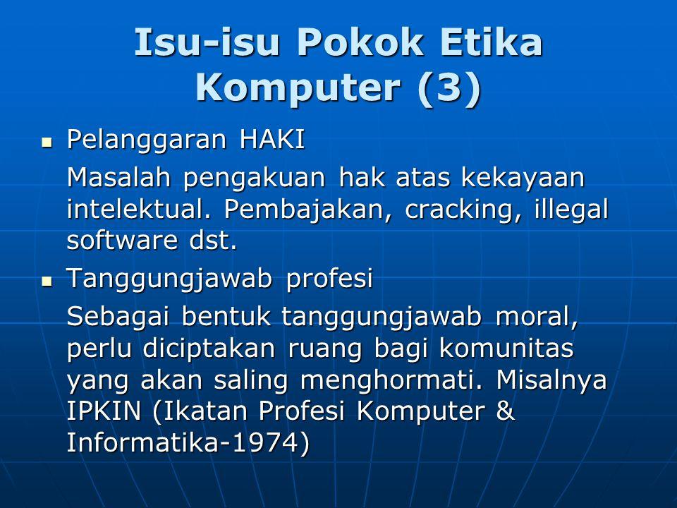 Isu-isu Pokok Etika Komputer (3)