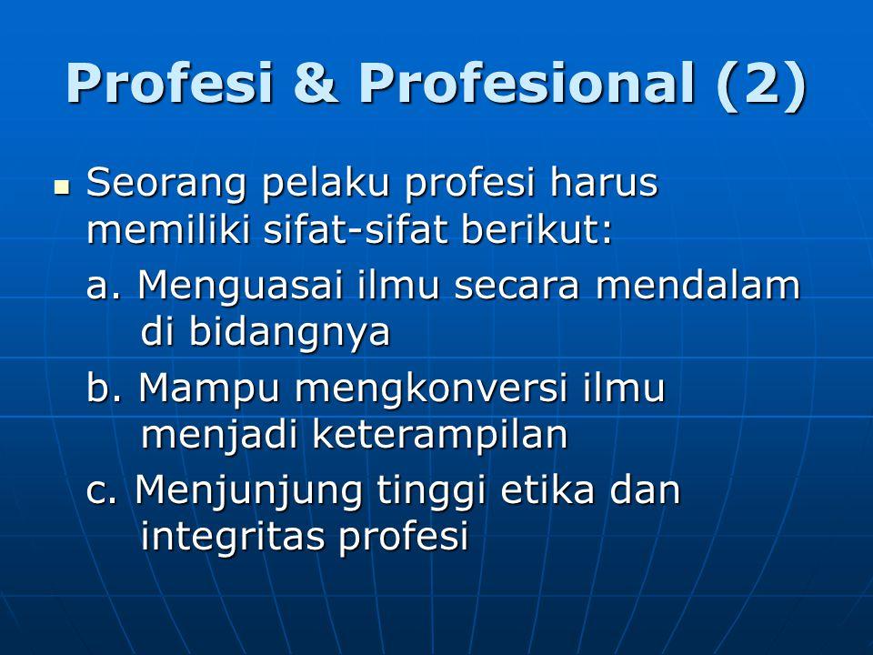 Profesi & Profesional (2)