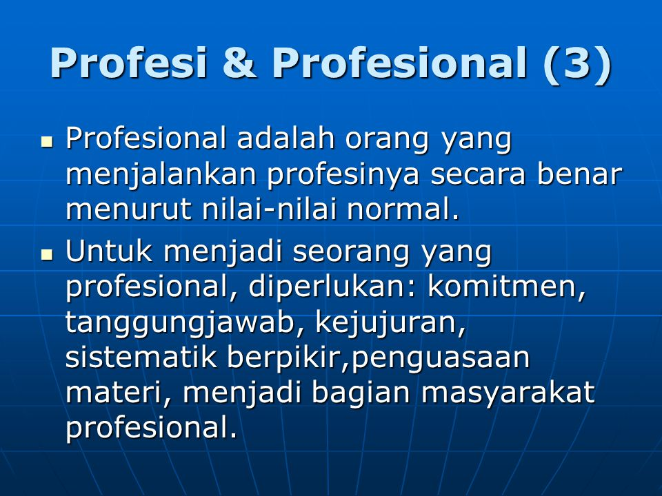 Profesi & Profesional (3)