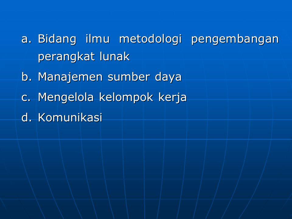 Bidang ilmu metodologi pengembangan perangkat lunak