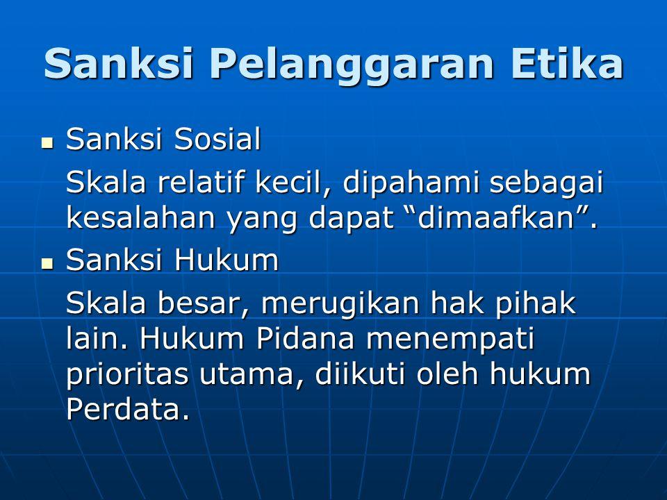 Sanksi Pelanggaran Etika