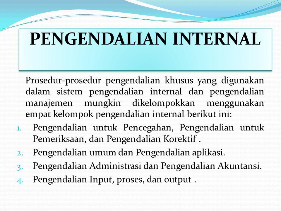 PENGENDALIAN INTERNAL