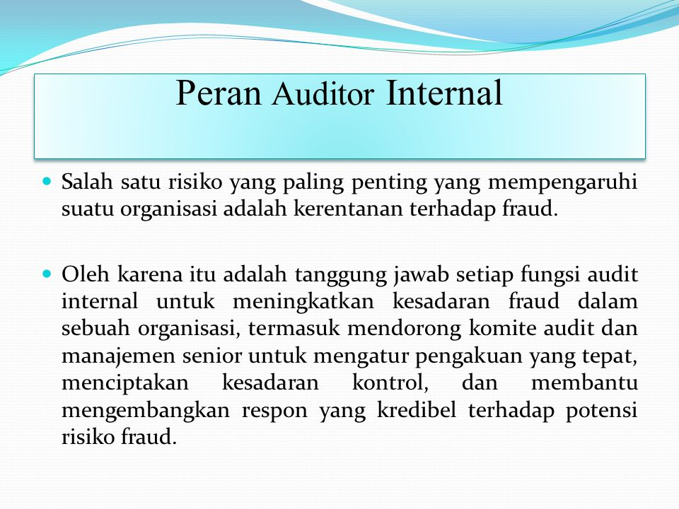 Peran Auditor Internal