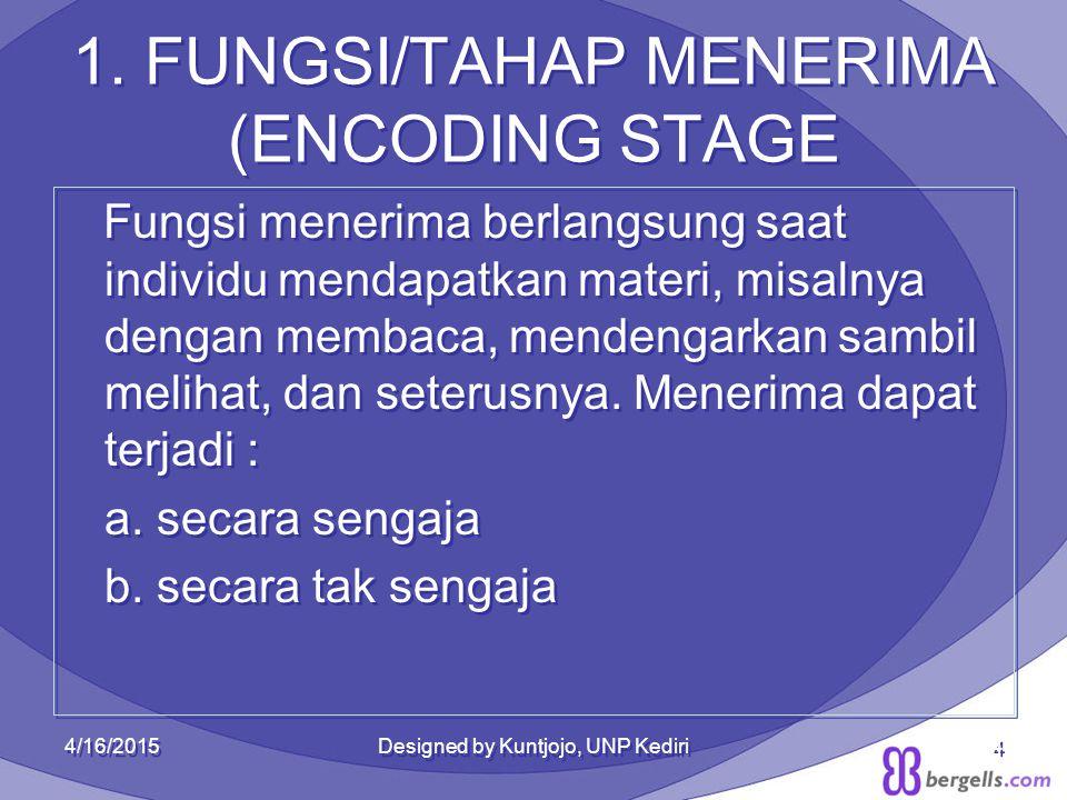 1. FUNGSI/TAHAP MENERIMA (ENCODING STAGE