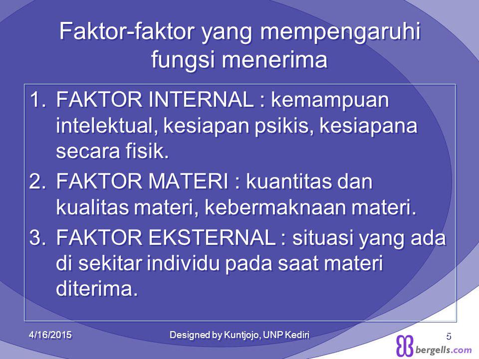 Faktor-faktor yang mempengaruhi fungsi menerima