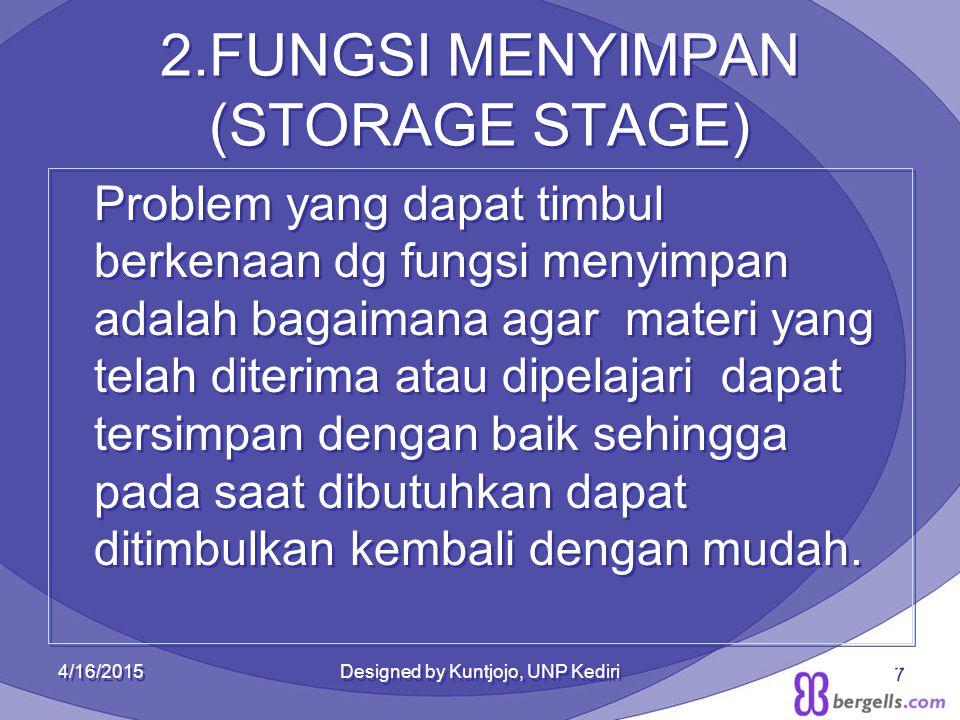 2.FUNGSI MENYIMPAN (STORAGE STAGE)