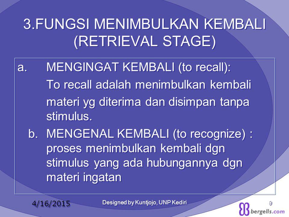 3.FUNGSI MENIMBULKAN KEMBALI (RETRIEVAL STAGE)