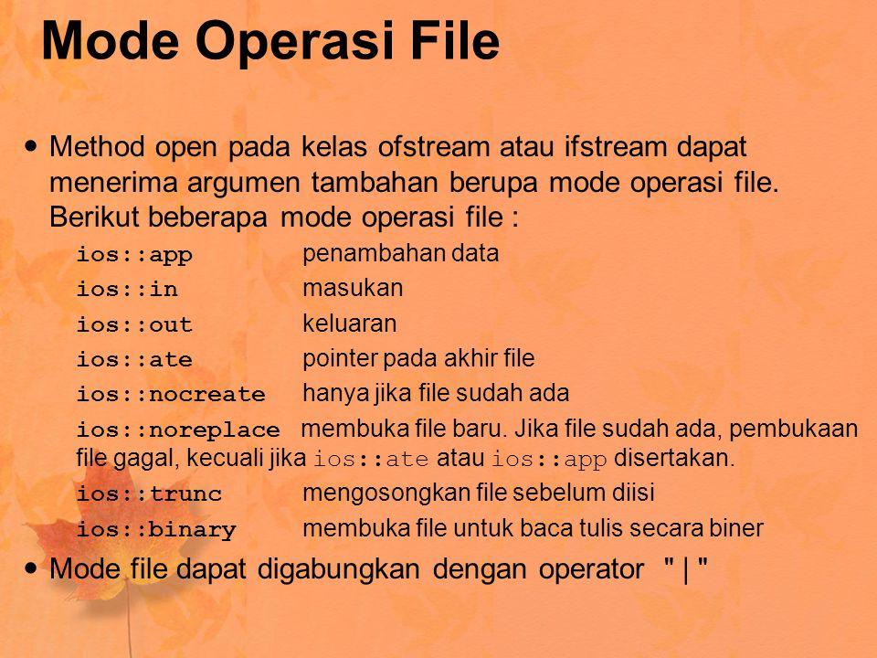 Mode Operasi File