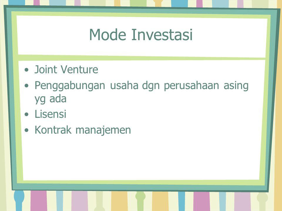 Mode Investasi Joint Venture