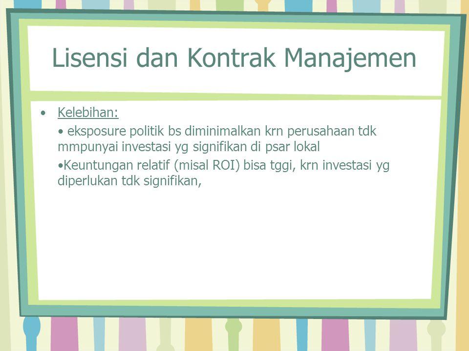 Lisensi dan Kontrak Manajemen