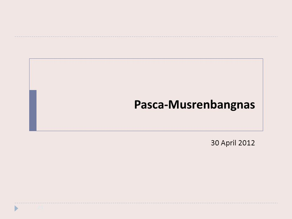 Pasca-Musrenbangnas 30 April 2012