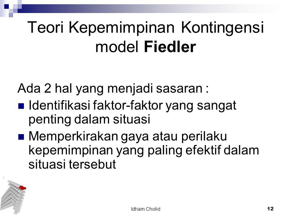 Teori Kepemimpinan Kontingensi model Fiedler