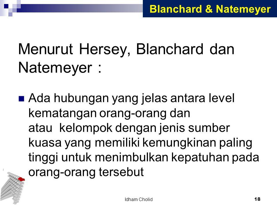 Menurut Hersey, Blanchard dan Natemeyer :